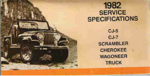 1982 Jeep Factory Service Specifications