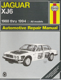 1988 - 1994 Jaguar XJ6, Haynes Repair Manual