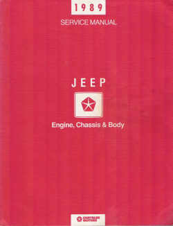 1989 Jeep Engine, Chassis & Body Factory Service Manual