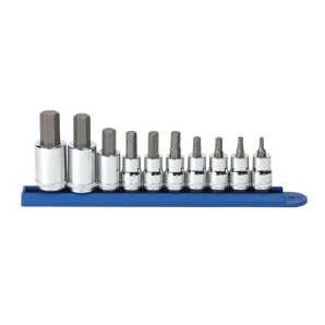 10-Piece Metric Hex Bit Socket Set - 3/8 inch and 1/2 inch Drives