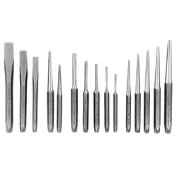 15-piece Punch and Chisel Set with Kit Bag