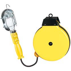 Incandescent Trouble Light Reel with Metal Cage