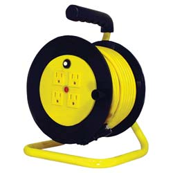 Extension Cord Reel with 4 Outlets