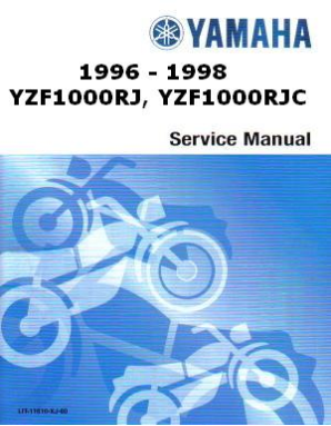 Official 1996-1998 Yamaha YZF1000 Factory Service Manual