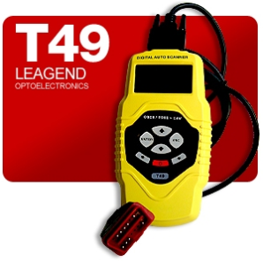 Leagend T49 Auto Diagnostic Code Reader with CAN, OBD-II, EOBD & JOBD Coverage