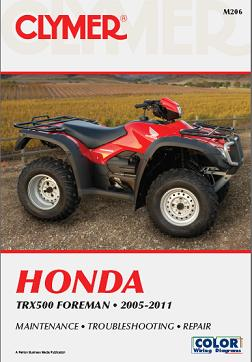 2005 - 2011 Honda TRX500 Foreman Clymer Repair, Service & Maintenance Manual