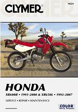 1991 - 2007 Honda XR600R  & XR650L Clymer Repair Manual