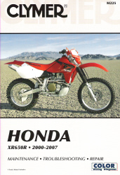 2000 - 2007 Honda XR650R Clymer Repair Manual