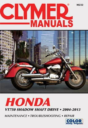 2004-2013 Honda VT750 Shadow Shaft Drive Clymer Service, Repair & Maintenance Manual