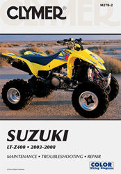 2003 - 2008 Suzuki LT-Z400 Clymer ATV Maintenance, Troubleshooting, Repair Manual