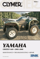 2002 - 2008 Yamaha Grizzly 660 Clymer ATV Maintenance, Troubleshooting, Repair Manual