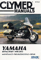 1996 - 2013 Yamaha Royal Star, Boulevard, Venture, Tour Deluxe & Tour Classic Clymer Repair Manual