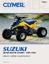 1985 - 1992 Suzuki Quad Racer LT250R Clymer ATV Service, Repair, Maintenance Manual