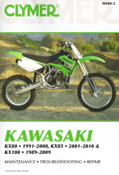 1989 - 2010 Kawasaki KX80, KX85 & KX100 Clymer Repair Manual
