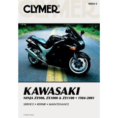 1984 - 2001 Kawasaki 900-1100 Ninja Clymer Repair Manual