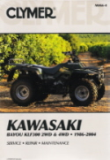1986 - 2004 Kawasaki Bayou KLF300 2WD, 4WD Clymer ATV Service, Repair, Maintenance Manual
