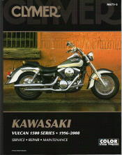 1996 - 2008 Kawasaki Vulcan 1500 Series Clymer Repair Manual