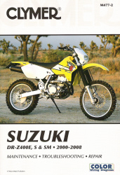2000 - 2008 Suzuki DR-Z400E, S & SM Clymer Repair Manual