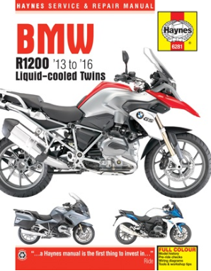 2013 - 2016 BMW R1200GS R1200R R1200RS R1200RT Haynes Repair Manual