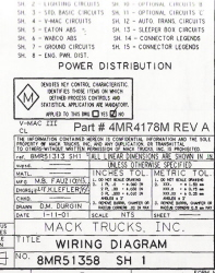 Mack Wiring Diagram Chassis Series CL 2001-2002