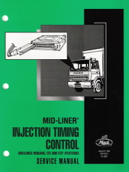 Mack Truck Mid-Liner Injection Timing Control Service Manual