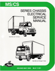 Mack Truck Mid-Liner MS CS Chassis Electrical / Wiring Factory Service Manual