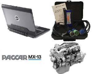 PACCAR Davie4 MX-11 &  MX-13 Engine Software on Dell ATG-D630 Laptop & Nexiq USB-Link2 Adapter