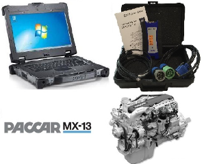 PACCAR Davie5 MX-11 & MX-13 Engine Software on Dell Military Grade XFR-E6420 Laptop & Nexiq USB-Link2 Adapter