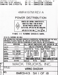 Mack Wiring Diagram Chassis Series CV 2003-2004
