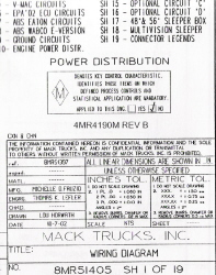 Mack Wiring Diagram Chassis Series CXN-CHN 2004-2005