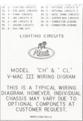 Mack Wiring Diagram Chassis Series CH-CL 2000-Older