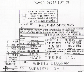 Mack Wiring Diagram Chassis Series LE 2001