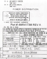 Mack Wiring Diagram Chassis Series RB-RD-DM-DMM 2001-2002