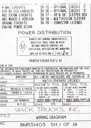 Mack Wiring Diagram Chassis Series RB-RD-DM 2003-2004