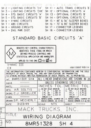 Mack Wiring Diagram Chassis Series CX 2000-Older
