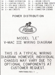 Mack Wiring Diagram Chassis Series LE 2000-Older