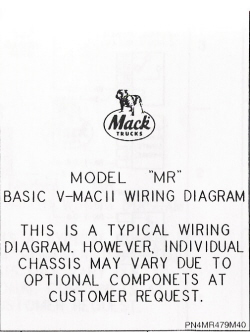 Mack Wiring Diagram Chassis MR 2000-Older