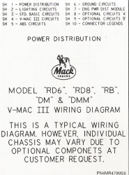 Mack Wiring Diagram Chassis SeriesRD6, RD8, RB, DM & DMM 2000-Older
