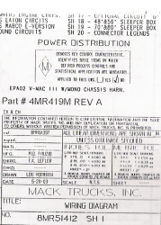 Mack Wiring Diagram Chassis Series CH-CX 2003-2004
