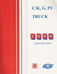 1994 GMC C/K, G, P3 Truck Shop Diesel Supplement