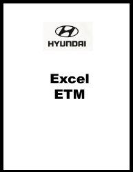 1990 - 1994 Hyundai Excel Factory Electrical Troubleshooting Manual - ETM