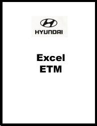 1986 - 1989 Hyundai Excel Factory Electrical Troubleshooting Manual - ETM