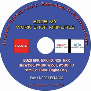 2005 Isuzu N Series & GMC, Chevrolet W Series (5.2L Diesel Only) Factory Workshop Manual on CD-ROM