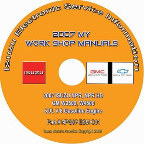 2007 Isuzu N Series & GMC, Chevrolet W Series (6.0L Gas Only) Factory Workshop Manual on CD-ROM