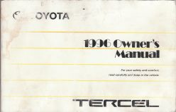 1996 Toyota Tercel Owner's Manual