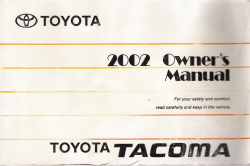 2002 Toyota Tacoma Owner's Manual