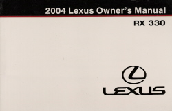 2004 Lexus RX 330 Owner's Manual