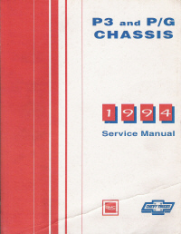 1994 Chevrolet GMC P3 & P/G Chassis Service Manual