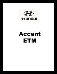 1999 Hyundai Accent Factory Electrical Troubleshooting Manual - ETM