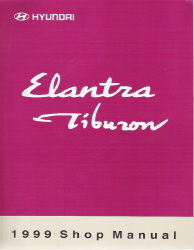 1999 Hyundai Elantra & Tiburon Factory Shop Manual Volume 1